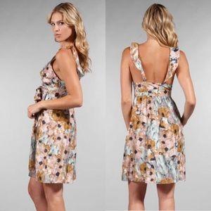 Theory Galila Marble Flower Silk Garden Dress